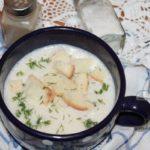 луковый крем суп с плавленным сыром