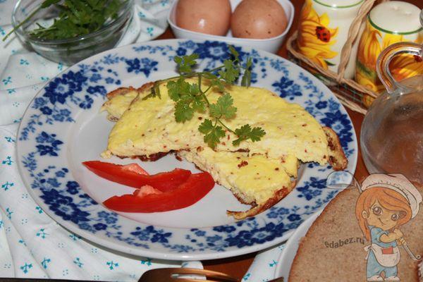 омлет с творогом рецепт на сковороде