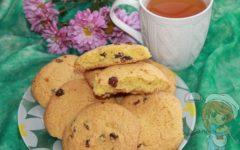 печенье с изюмом из кукурузной муки