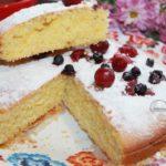 кукурузный пирог с ягодами рецепт