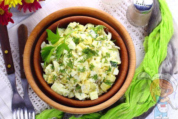 салат огурец яйцо фото рецепт