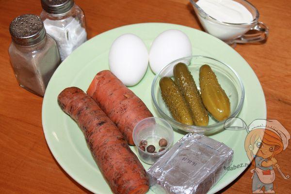 Продукты для фарширования яиц