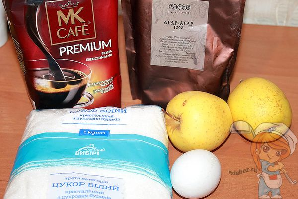 Необходимые продукты для зефира