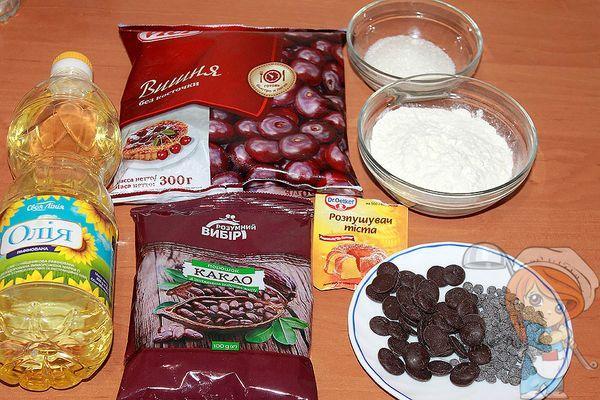 Ингредиенты для домашнего брауни без яиц
