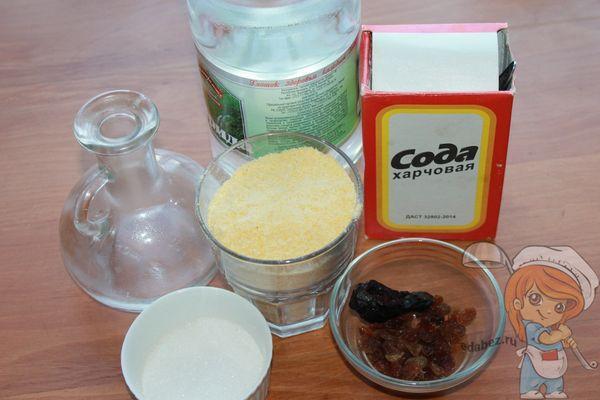 продукты для приготовления кукурузного печенья без яиц и без молока