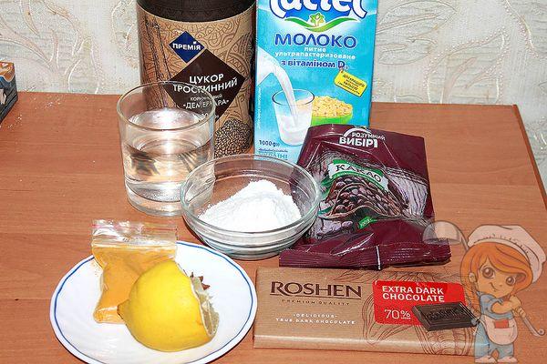 продукты для лимонного пудинга