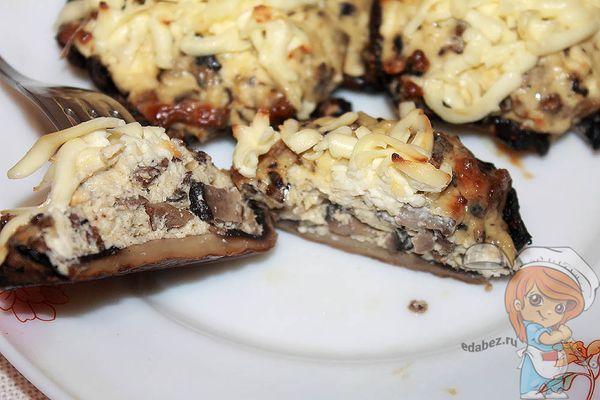 шампиньоны фаршированны в духовке с сыром