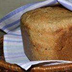 ржаной хлеб с семенами льна в хлебопечке
