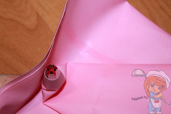 Заполняем кондитерский конверт