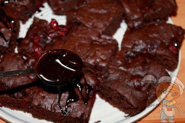 Домашний шоколадный брауни вегетарианский рецепт
