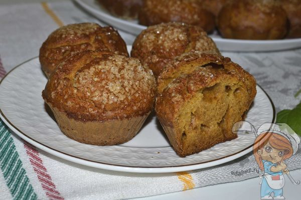 Домашние тыквенные кексы в духовке