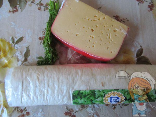 Лаваш, сыр и зелень