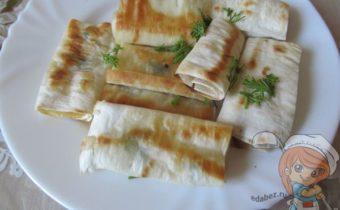 Лаваш с сыром на сковороде рецепт
