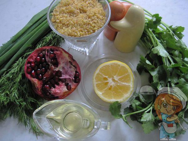 Ингредиенты для салата табуле