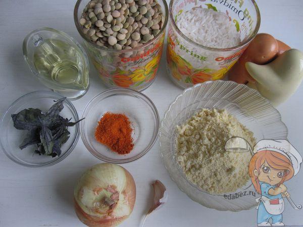 Продукты для рисовых биточков