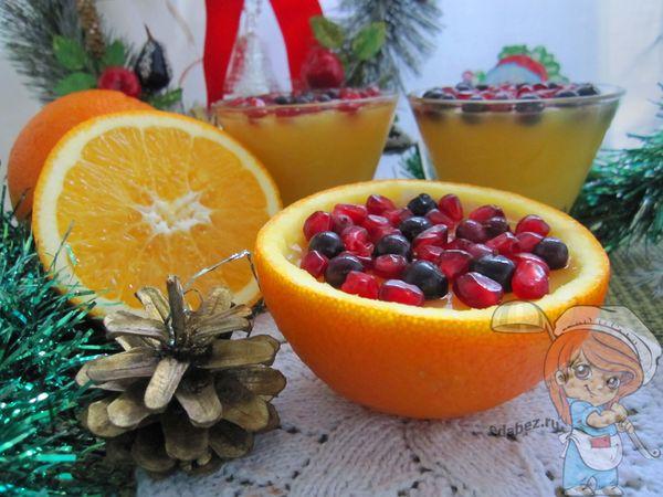 домашнее желе в апельсиновых корках без сахара