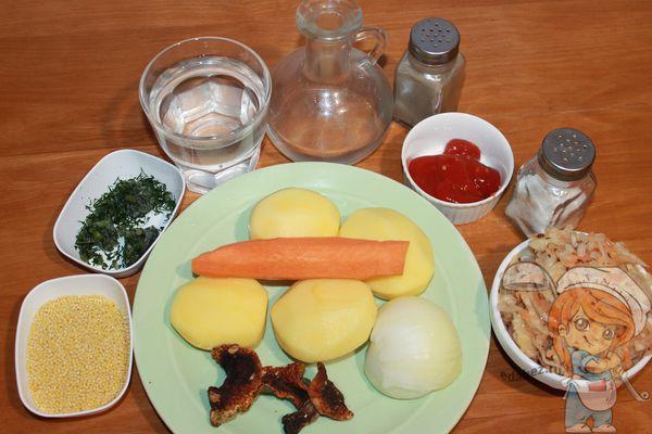 продукты для щей из капусты с пшеном