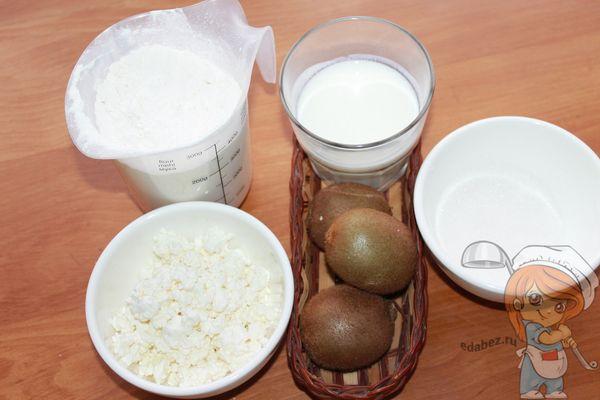 продукты для десерта с киви