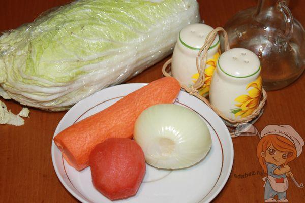 продукты для тушения пекинской капусты