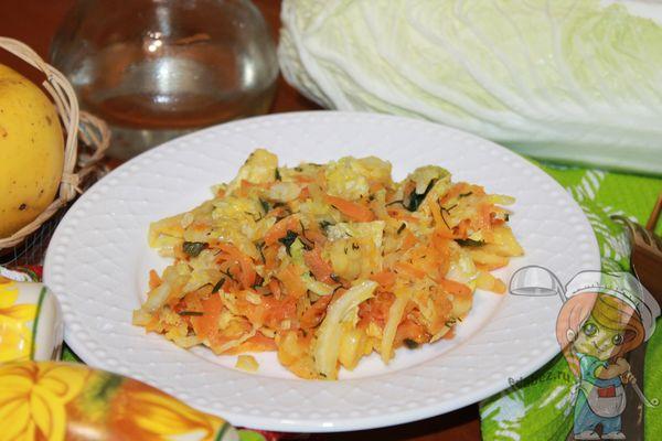 Жареная пекинская капуста - рецепт приготовления