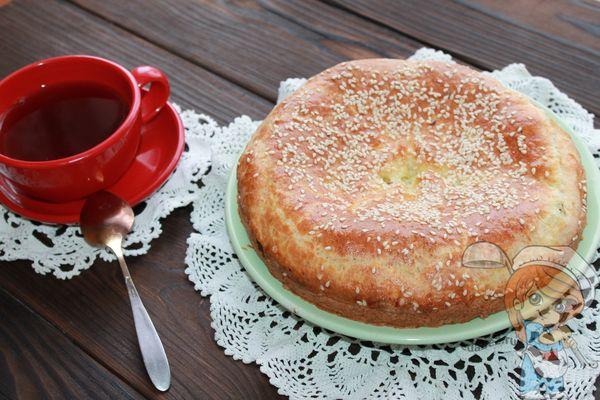 Пирог с картошкой без дрожжей