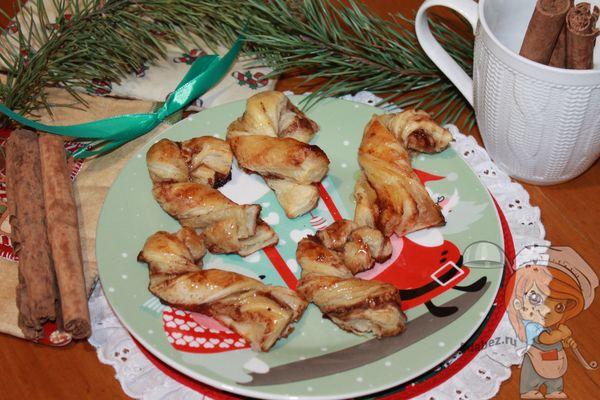 печенье рождественские палочки - рецепт