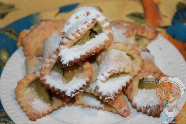 домашнее печенье с киви