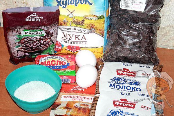 продукты для шоколадных блинов