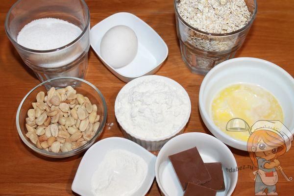 Продукты для овсяного печенья