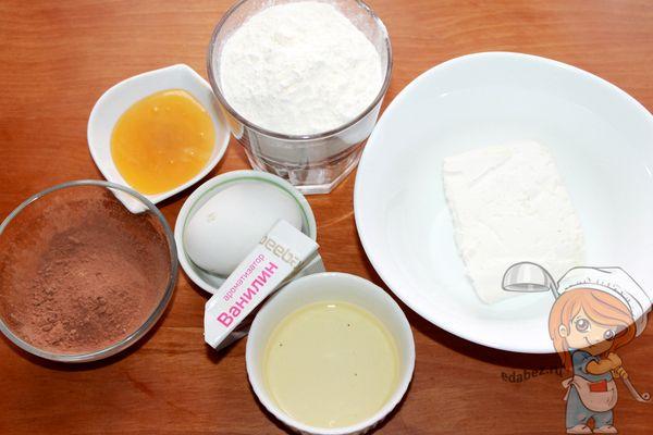 продукты для шоколадного печенья