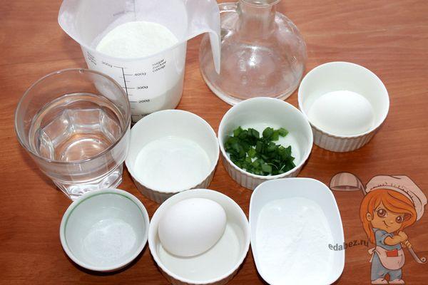 Продукты для приготовления пирожков