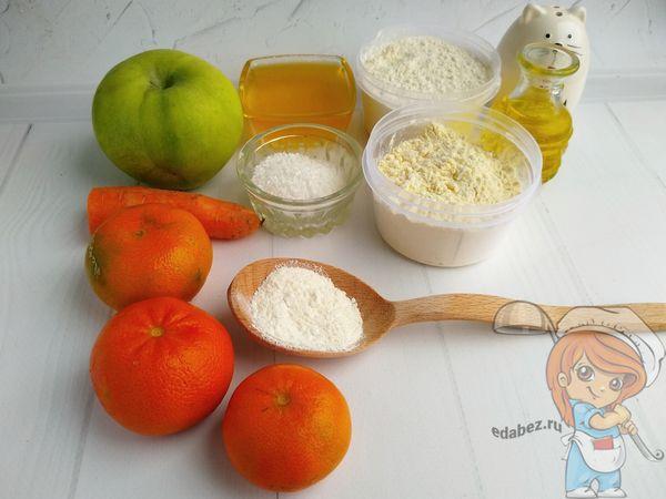 продукты для пирога с мандаринами
