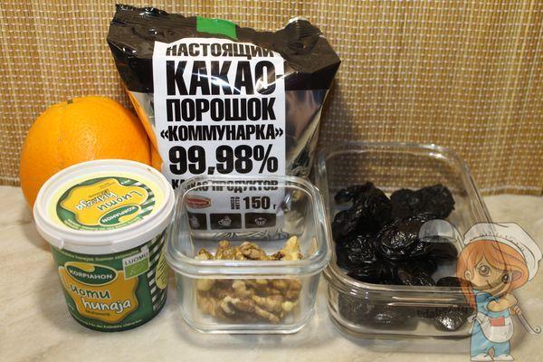 Ингредиенты для вегетарианского брауни