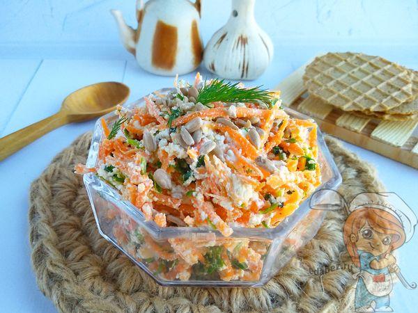 салат из моркови и творога - рецепт с фото