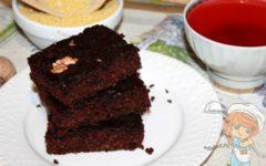 шоколадное пирожное без муки из пшена