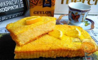 творожный пирог с апельсинами - рецепт с фото