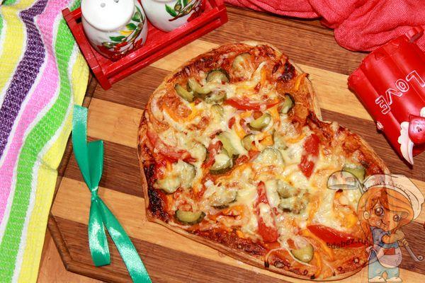 Как сделать пиццу сердце
