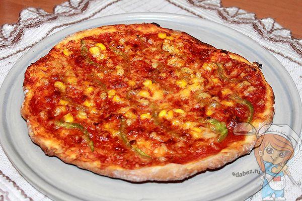 домашняя бездрожжевая пицца