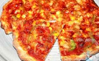 пицца без дрожжей на молоке - рецепт с фото