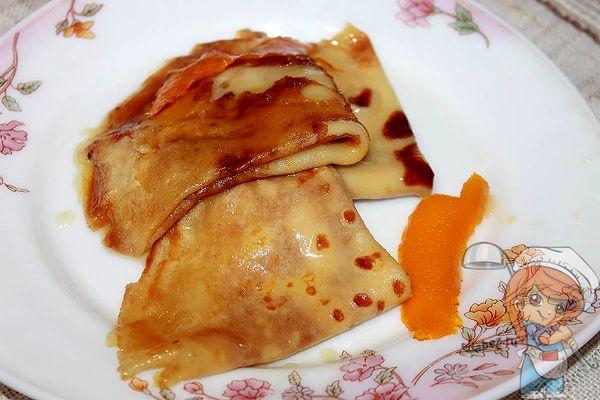 Креп сюзетт - Блинчики в апельсиновом соусе