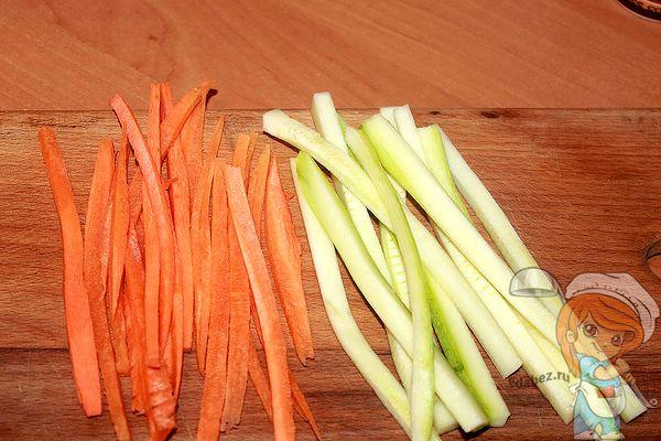 морковь с кабачками
