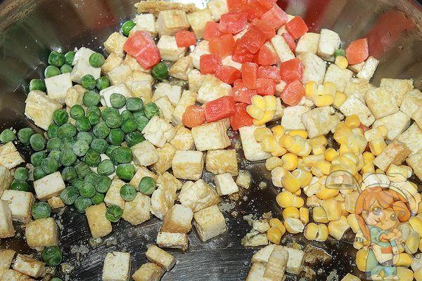 тушим овощи с тофу