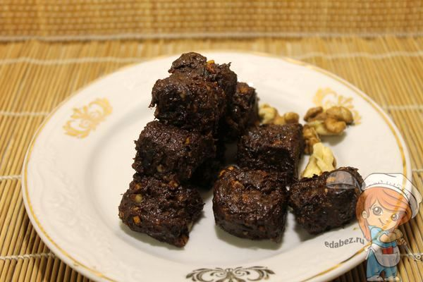 шоколадный брауни без муки и сахара