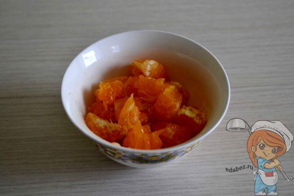 мандарин кусочками