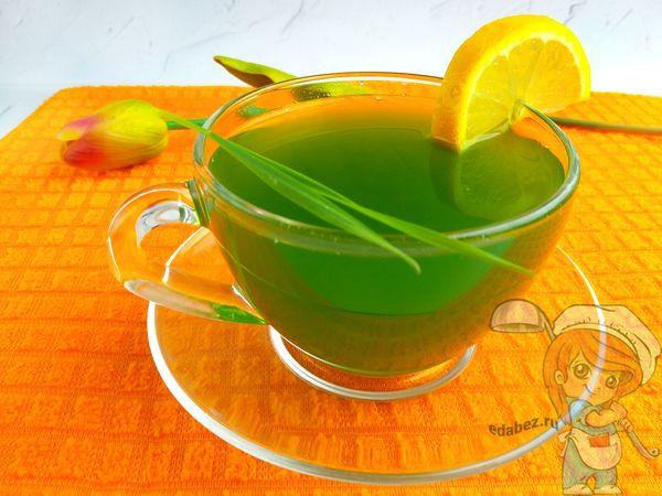 зеленый витаминный сок из пшеницы