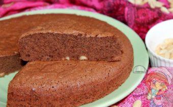 шоколадный пирог с орехами - рецепт с фото