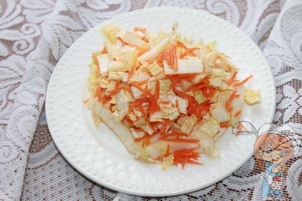 быстрая маринованная пекинская капуста - рецепт с фото