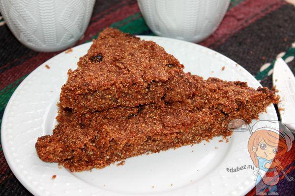 вкусный морковный пирог на гречневой муке