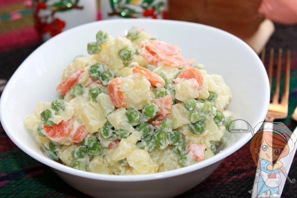Аргентинский салат Ensalada rusa - рецепт как приготовить.