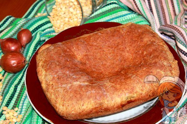 Пирог с гороховой начинкой